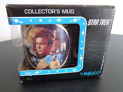 STAR TREK Collectors Mug CAPTAIN KIRK Enesco 1994 Starship Enterprise 110329 NEW