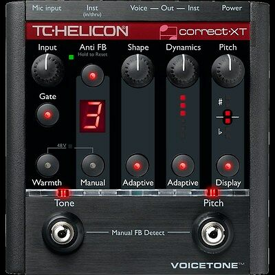 TC Helicon VoiceTone Correct XT Pitch Vocal Correction Pedal 5706622010537 NEW