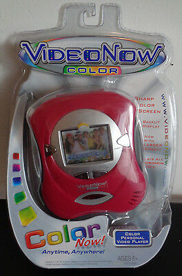 VIDEO NOW Color Personal Video Player Pink NEW IN PACKAGE Tiger Electronics 2004