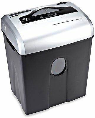 AmazonBasics 12-Sheet Cross-Cut Paper,CD,and Credit Card Shredder 4.8-gallon bin