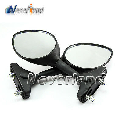 Motor Rear Side Rearview Mirrors For Yamaha Honda kawasaki Suzuki Ducati Black