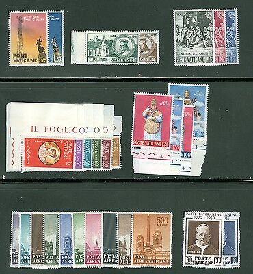 Vatican City 1959 Compete MNH Year Set