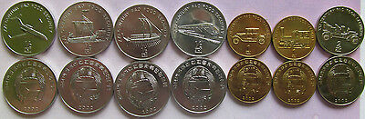 "Korea set of 7 coins 2002 ""Transport"" UNC (4x1/2 chon+2x1 won+ 1x2 won) UNC"