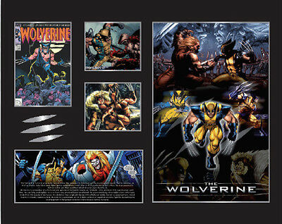 New Wolverine X Men Comics Limited Edition Memorabilia Framed