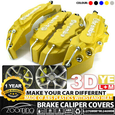 4pcs Yellow Disc Racing Running Brake Caliper Covers For BMW # 16-18 inch wheels