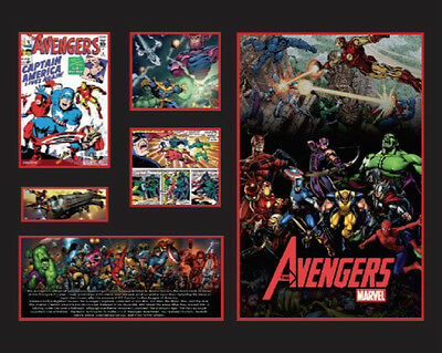 New The Avengers Comics Limited Edition Memorabilia Framed