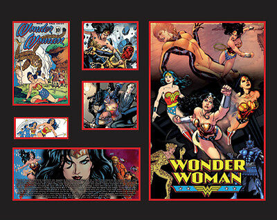 New Wonder Woman Comics Limited Edition Memorabilia Framed