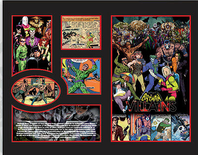 New Batman Villians Comics Limited Edition Memorabilia Framed