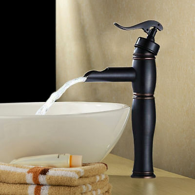 Bathroom Sink Vessel Faucet Oil Rubbed Bronze Waterfall One