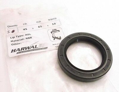 Harwal 45X65X10 ADL SEAL - Type ADL Double Lip - Nitrile - Prepaid Shipping