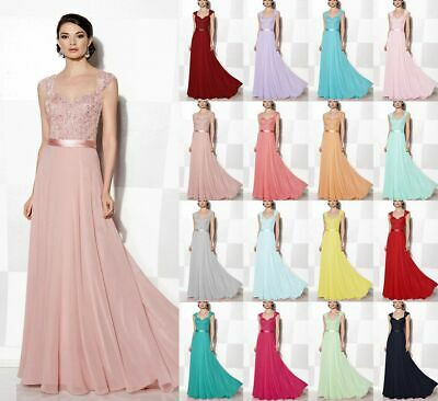 Long Chiffon Formal Wedding Evening Gowns Party Prom Cocktail Bridesmaid Dresses