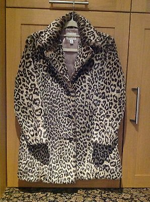 Kids Next Animal Print Coat Age 9-10 Worn But In Great Condition