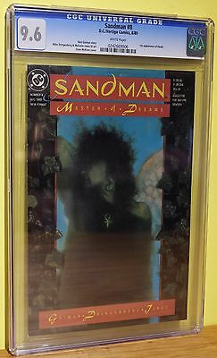 SANDMAN #8  CGC 9.6 - WHITE PAGES *1st APPEARANCE of DEATH* RED HOT COPPER AGE!