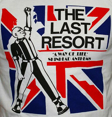 The Last Resort - A Way Of Life T-Shirt Skinhead Oi Punk 4Skins Cock Sparrer
