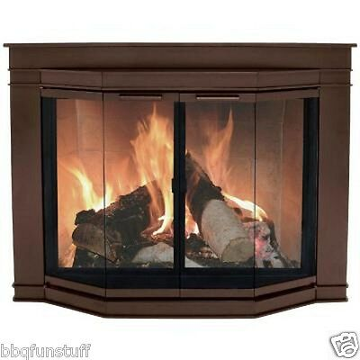Pleasant Hearth Oil Rubbed Bronze Fireplace Door Glacier Bay Large GL-7702 New