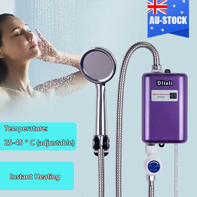 Instant Electric Water Heater Bathroom Bath Shower Set Tankless Hot Water System