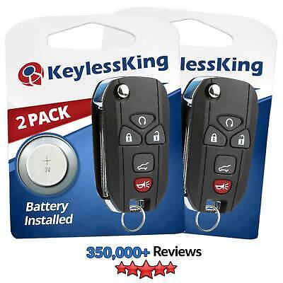 2 New Replacement Keyless Entry Car Remote Flip Key Fob Control for 15913415