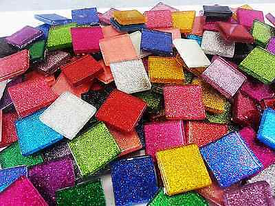 Glitter tiles Mix - 23x23x4mm - Total 84 tiles
