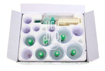 Wellness treatments Chinese Medical 12 Body Cupping Set+6 magnets Point Therapy