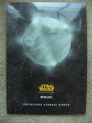 STAR WARS EP3 Revenge of the Sith ROTS Collectors Storage Binder Medalionz Coins