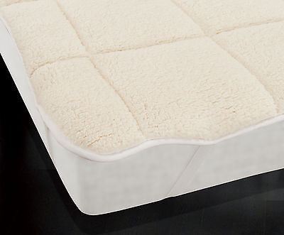 Teddy Bear Soft Mattress Topper Thermal Enhancer Single Double King Super Thick