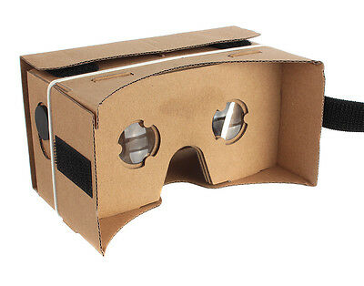 Google Cardboard 3D VR Virtual Reality Brille Box Glasses Brillenband Android