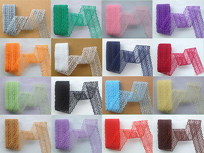 Beautiful!10 Yard Bilateral Handicrafts Embroidered Net Lace Trim Ribbon