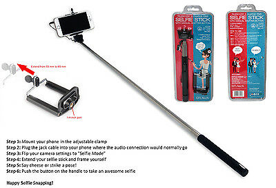 SELFIE STICK Telescopic & Charge Free Simple to Use with Manual Shutter Button