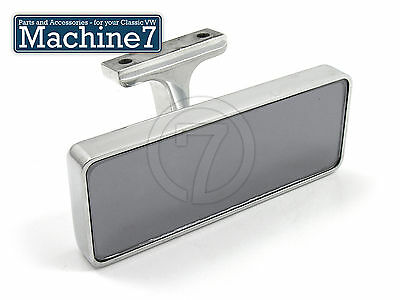 Universal Rear View Mirror Rectangular Billet / Chrome Screw-On Classic Car
