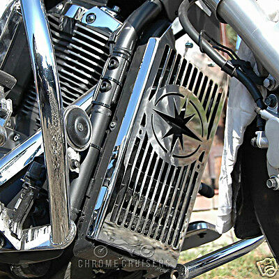 Yamaha Xvs1300 Xvs 1300 Midnight Star Chrome Radiator Cover Guard Grill Panel