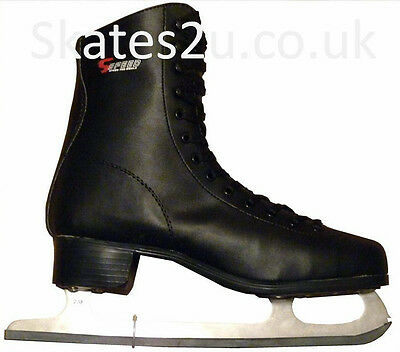 Mens S-Speed SS520 Black Ice Figure Skates UK size 4