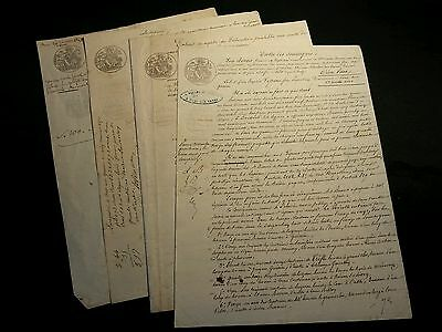 LOT OF FOUR OLD DOCUMENTS  1850s