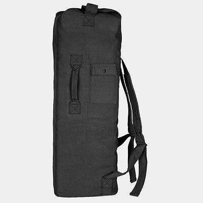 New Military Style Tactical Gear Double Shoulder Strap Canvas Black Duffle Bag
