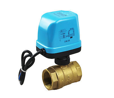 Motorized Ball Valve 2 Way BSP DN15-25 G1/2''-1'' 220V Electric With LED Light