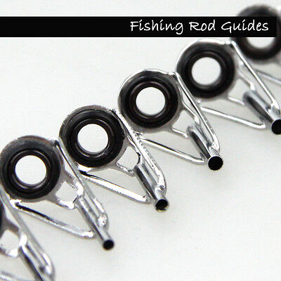 Fishing Rod Parts Tip Tops Silver Stainless Repair Guides Set Saltwater Fishing