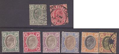 (JS-35) 1902 Transvaal part 8set ½d to 5/- mint & used