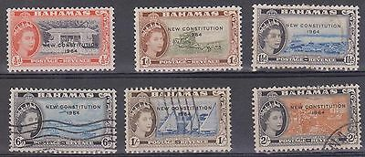 (JS-48) 1964 Bahamas mix of 6 ½d to 2/- new constitution mint & FU