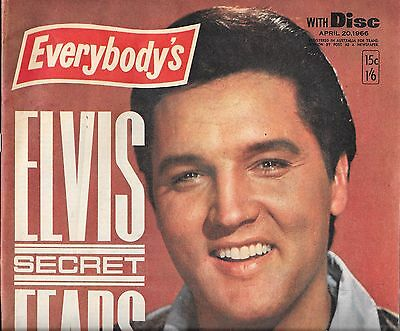 Everybody's magazine APR 20 1966 Elvis cover vintage advertising mostly complete