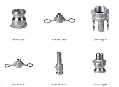 """Camlock QD 1/2 Type Stainless Steel 304 Homebrew Fitting 1/2""""FPT 1/2MPT 1/2 Barb"""