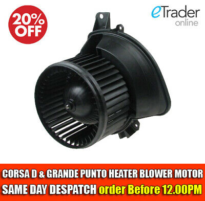 Vauxhall Corsa D Fiat Grande Punto Heater Blower Motor/fan With & Without Aircon