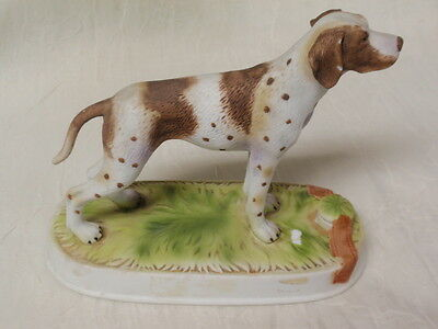 1975 Lionstone Pointer Dog Porcelain Decanter From Estate Sale Damaged