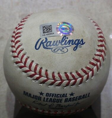 2015 Dodgers Zach Lee Pitched Game Used MLB Debut Baseball against Mets #2