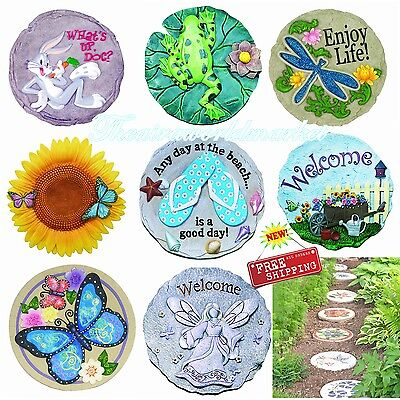 Stepping Stone Garden Plaque Art Wall Decor Walkway Yard Outdoor Indoor Gift USA