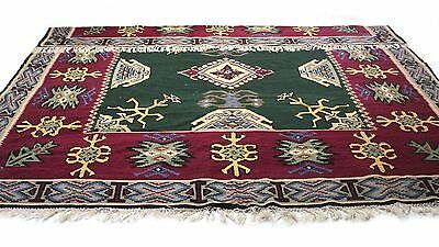 "ANTIQUE Vintage Handmade Hand-Knotted Thick Soft Rug (126"" X 142"")100% wool # 85"