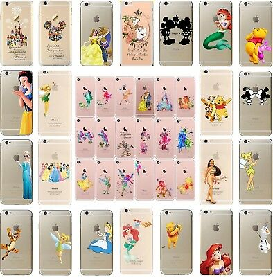 Disney Princess Character Transparent Clear Hard Cover Case Various iPhone Model
