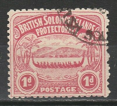 British Solomon Islands 1907 Large Canoe 1D Used