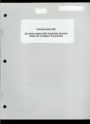 Rare Genuine Foxboro I/A Series HHT Hand Held Terminal Owner's Service Manual