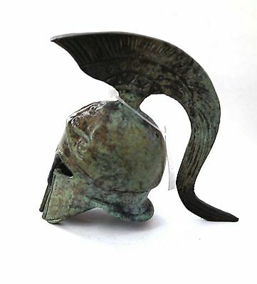 Ancient Greek Bronze Miniature Helmet Bronze Oxidization 1354