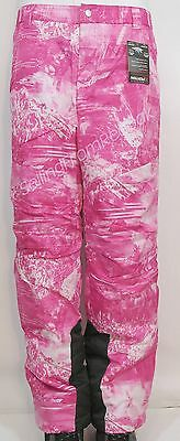 Womens Small/medium Insulated Waterproof Ski/snow Board Pants Hot Pink ~ New