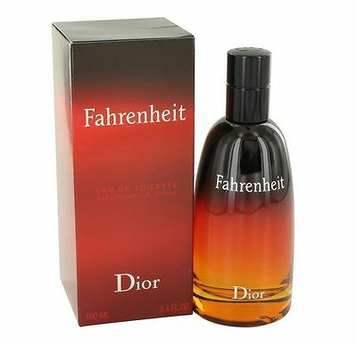 FAHRENHEIT BY CHRISTIAN DIOR *MEN'S COLOGNE*3.3 oz EDT SPRAY *SEALED NEW IN BOX